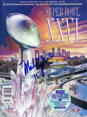 Mark Rypien autographed Super Bowl 26 program