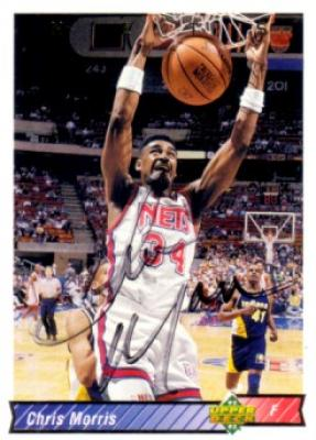 Chris Morris autographed New Jersey Nets 1992-93 Upper Deck card