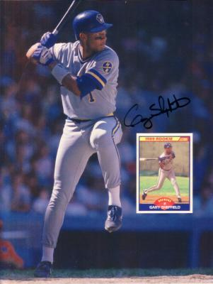 Gary Sheffield autographed Milwaukee Brewers 1989 Beckett back cover photo
