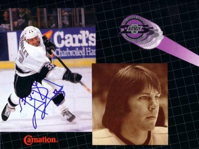 Marty McSorley autographed Los Angeles Kings calendar photo