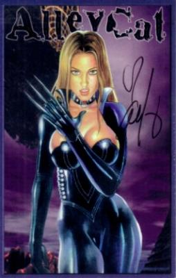 Alley Baggett autographed Alley Cat card