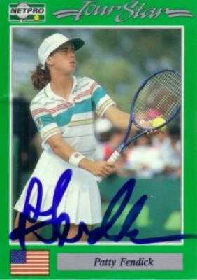Patty Fendick autographed 1991 Netpro tennis card