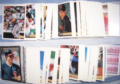 1993 Bowman baseball card partial set NrMt-Mt (Chipper Jones Mike Piazza Cal Ripken)