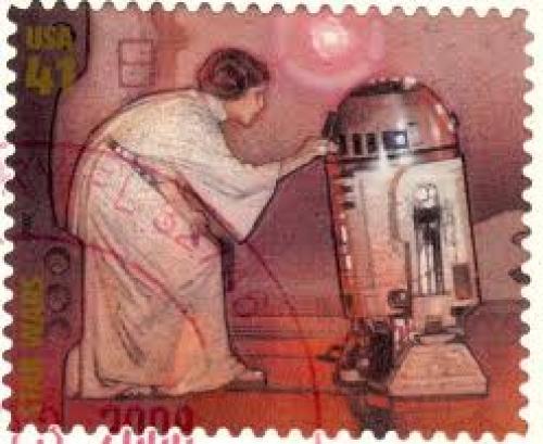 USA - Stamp, 2007 Star Wars, Leia.