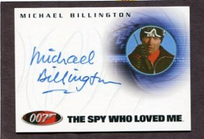 Michael Billington 007 certified autograph card
