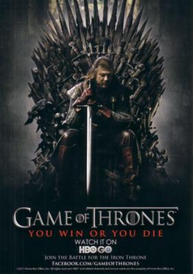 Game of Thrones 2011 Comic-Con exclusive 5x7 inch HBO promo card