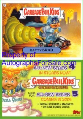 Garbage Pail Kids Series 5 2005 promo card (Batty Brad)