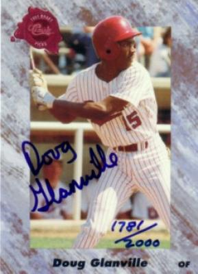 Doug Glanville certified autograph 1991 Classic card