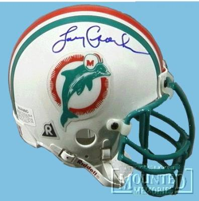 Larry Csonka autographed Dolphins authentic mini helmet (TSC)