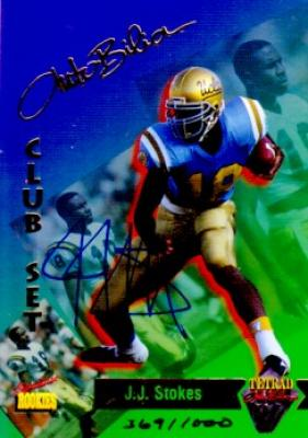 J.J. Stokes certified autograph UCLA 1995 Signature Rookies card