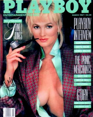 Janet Jones Gretzky autographed 1987 Playboy cover 8x10 photo