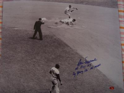 Don Newcombe autographed Brooklyn Dodgers 16x20 poster size photo