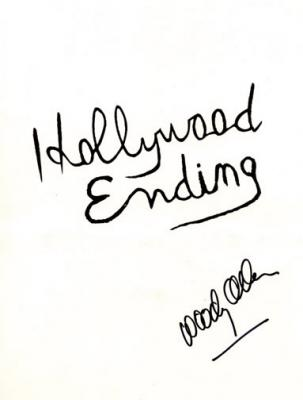Woody Allen autographed Hollywood Ending movie press kit