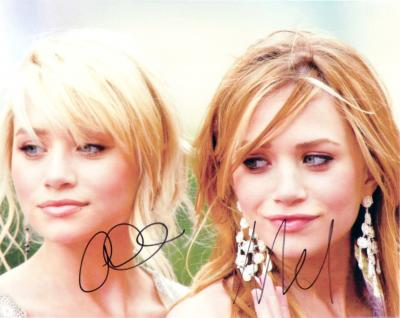 Ashley and Mary-Kate Olsen autographed 8x10 Olsen Twins photo