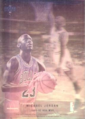 Michael Jordan 1992-93 Upper Deck McDonald&#039;s hologram card