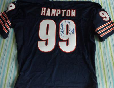 Dan Hampton autographed Chicago Bears authentic jersey inscribed Super Bowl XX Champion