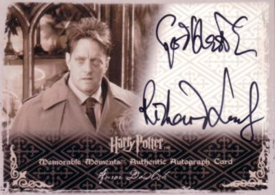 Richard Leaf Harry Potter certified autograph Dawlish card