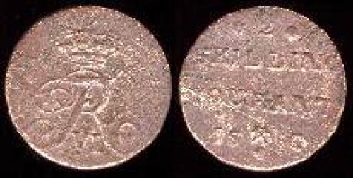 2 skillings 1810-1811 (km 280.1)