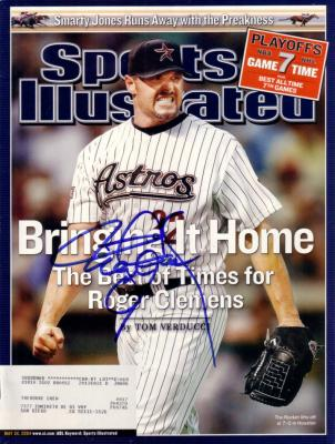 Roger Clemens autographed Houston Astros 2004 Sports Illustrated
