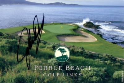 John Daly autographed Pebble Beach scorecard
