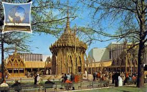 Postcard; Thailand Pavilion; New York World's Fair 1964-1965; Flushing, New York