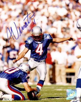 Adam Vinatieri autographed New England Patriots 8x10 photo