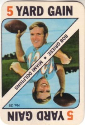 Bob Griese Dolphins 1971 Topps Game card #29