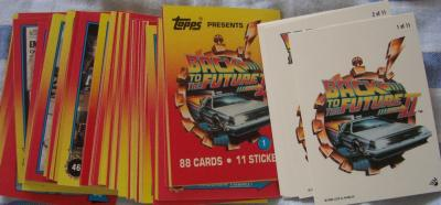 Back to the Future 2 Topps 88 card set with 11 stickers
