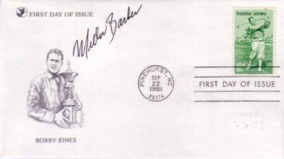 Miller Barber autographed Bobby Jones First Day Cover cachet