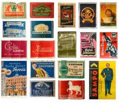Matchboxes; Scandinavian vintage matchboxes