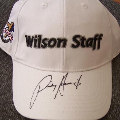 Padraig Harrington autographed Wilson Staff golf cap or hat