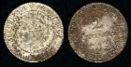 2 centimes; Year: 1877-1897; (km 827)