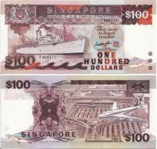 Banknotes; Singapore Bank Notes; 100 dollars