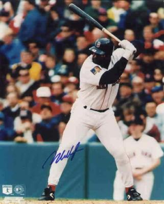 Mo Vaughn autographed 8x10 Boston Red Sox photo