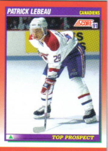 1991-92 Score Bilingual: # 280 Patrick Lebeau