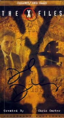 David Duchovny autographed X-Files video