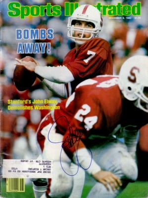 John Elway autographed Stanford Cardinal 1982 Sports Illustrated