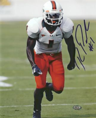 Roscoe Parrish autographed 8x10 Miami Hurricanes photo