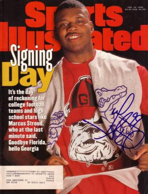 Marcus Stroud autographed Georgia Sports Illustrated