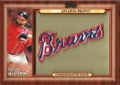 2011 Topps Commemorative Patch #BM ~ Brian McCann S2