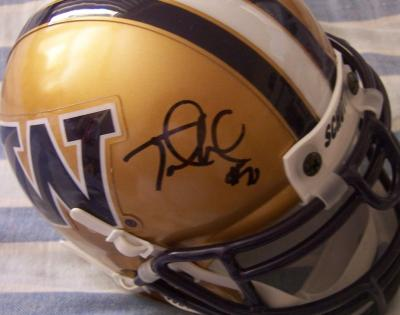 Jake Locker autographed Washington Huskies mini helmet