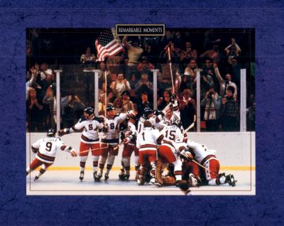 1980 Miracle on Ice U.S. Olympic Hockey team 8x10 celebration photo