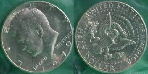 Coin; 1970 D Kennedy Half Dollar Coin; USA coin