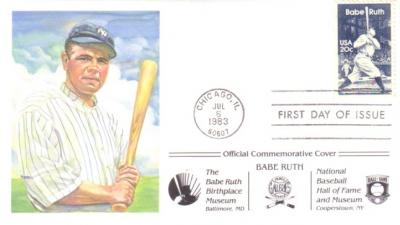 Babe Ruth 1983 Commemorative First Day Cover