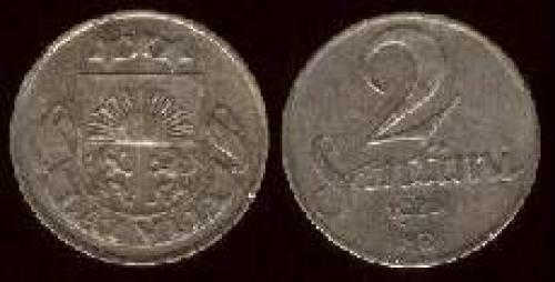 2 santims 1922-1932 (km 2)
