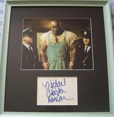 Michael Clarke Duncan autograph framed with Green Mile 8x10 photo
