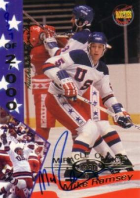 Mike Ramsey certified autograph 1980 Miracle on Ice Signature Rookies card