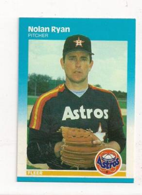 Nolan Ryan Houston Astros 1987 Fleer card #67 NrMt-Mt
