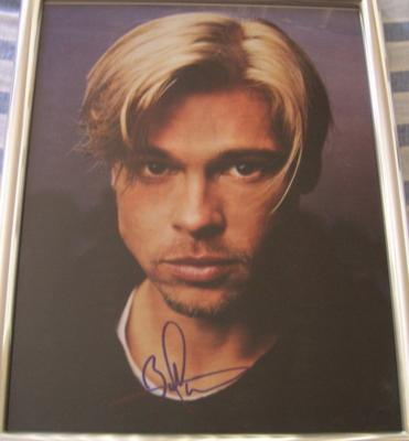 Brad Pitt autographed 11x14 photo framed