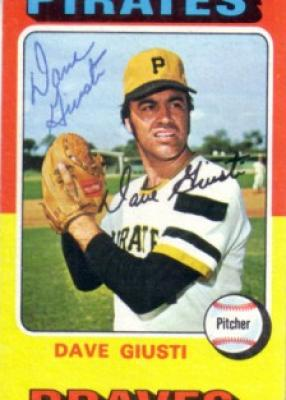 Dave Giusti autographed Pittsburgh Pirates 1975 Topps mini card